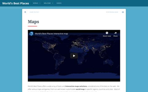 Screenshot of Maps & Directions Page worldbestplaces.com - Maps | World's Best Places - captured Oct. 19, 2018