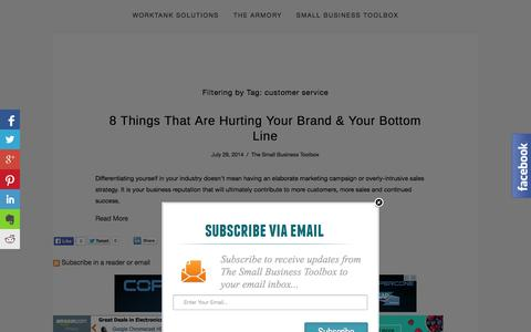 Screenshot of Support Page worktanksolutions.com - The Small Business Toolbox — WorkTank Solutions - captured Oct. 7, 2014