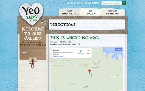 Screenshot of Maps & Directions Page yeovalley.co.uk - Directions | Yeo Valley | Supporting British Family Farms Yeo Valley - captured Dec. 2, 2015