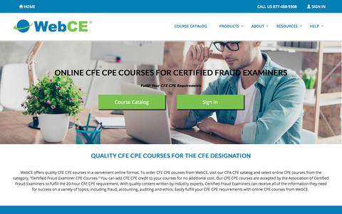 Certified Fraud Examiners CPE | CFE Requirements | WebCE