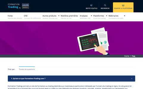 Screenshot of FAQ Page formation-trading.com - | Formation Trading by Saxo Banque - captured Feb. 11, 2018