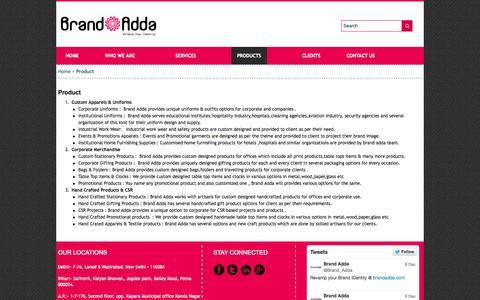 Screenshot of Products Page brandadda.com - Product - Brand Adda - captured Sept. 30, 2014