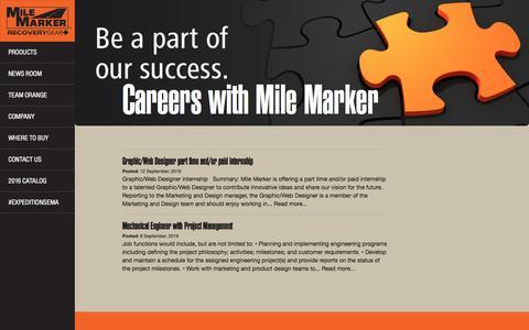 Screenshot of Jobs Page milemarker.com - Careers with Mile Marker | Mile Marker Industries - captured Dec. 6, 2016