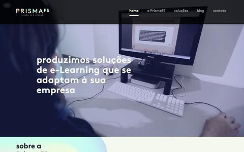 Screenshot of Home Page prismafs.com.br - PrismaFS - captured July 21, 2018