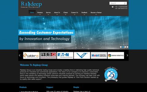 Screenshot of Home Page rajdeep.co.in - Rajdeep - Powered Through Service - captured Oct. 7, 2014