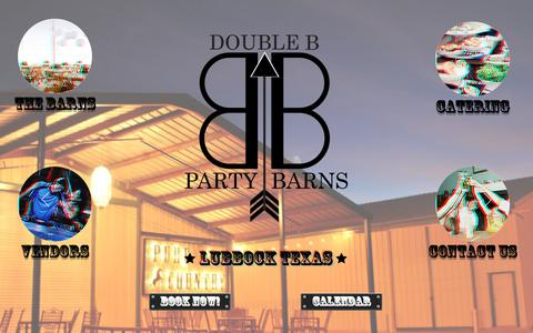 Screenshot of Home Page doublebpartybarns.com - DoubleBPartyBarns   Lubbock, TX   Wedding Venue, Live Music Venue - captured Oct. 12, 2017