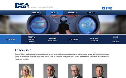 Screenshot of Team Page dsainc.com - Leadership | DSA Inc. - captured Nov. 13, 2018