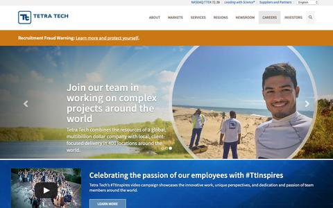 Screenshot of Jobs Page tetratech.com - Careers - Tetra Tech - captured June 14, 2019