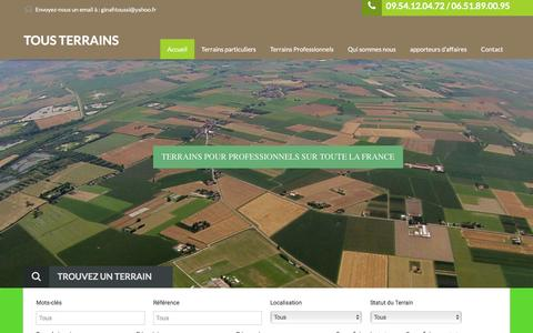 Screenshot of Home Page tousterrains.fr - Home - TOUS TERRAINS - captured Jan. 17, 2016