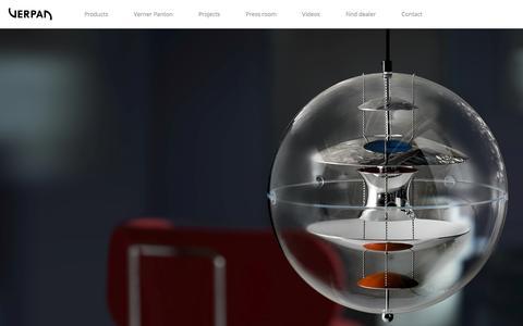 Screenshot of Home Page verpan.com - Home - captured Jan. 13, 2016