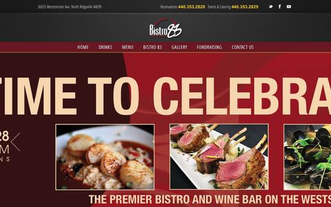Screenshot of Home Page bistro83.com - Bistro 83 � Restaurant and Wine Bar - captured Jan. 5, 2016