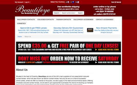 Screenshot of About Page beautifeye.co.uk - About Us - Beautifeye.co.uk - captured Oct. 31, 2014