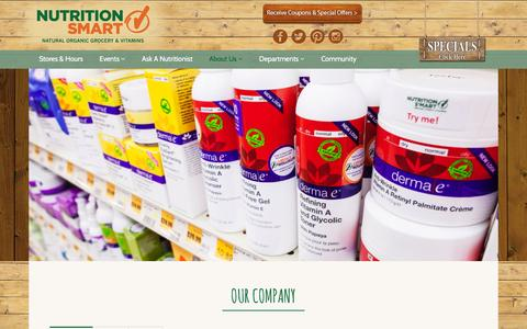 Screenshot of About Page nutritionsmart.com - About Us - Nutrition Smart Natural Organic Grocery Store - captured Feb. 26, 2016
