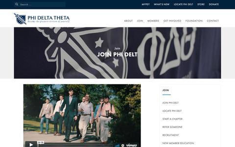 Screenshot of Signup Page phideltatheta.org - Join Phi Delt - Phi Delta Theta Fraternity - captured Sept. 28, 2018