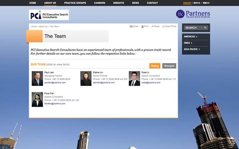 Screenshot of Team Page pcitaiwan.com - PCI Executive Search Consultants | The Team - captured March 23, 2016