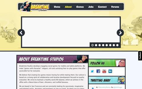 Screenshot of About Page breaktimestudios.com - Breaktime Studios  Č About Breaktime Studios - captured Dec. 4, 2015