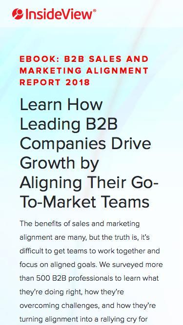 B2B Sales and Marketing Alignment Report 2018 | Registration