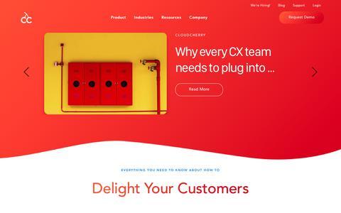 Screenshot of Blog cloudcherry.com - CloudCherry's Blog | Customer Experience Blog | CX Blog - captured Jan. 17, 2019