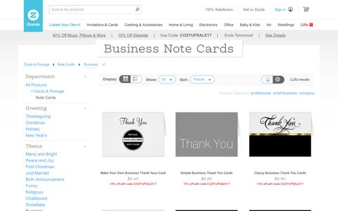 Business Note Cards | Zazzle