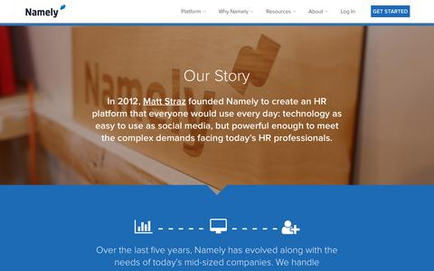 Our Story | Namely