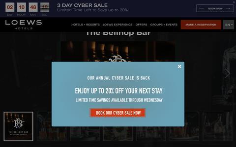 Screenshot of Home Page loewshotels.com - Loews Hotels: Luxury Hotels   Luxury Accommodations - captured Nov. 26, 2018