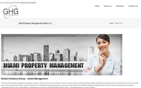 Screenshot of About Page ghg-am.com - Real Property Management Miami, FL | Recidential | Commercial - captured Feb. 16, 2018