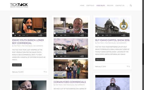Screenshot of Blog ticktockmp.com - Tick Tock Media Productions Video Blog | Tick Tock Media Productions - captured Feb. 16, 2016