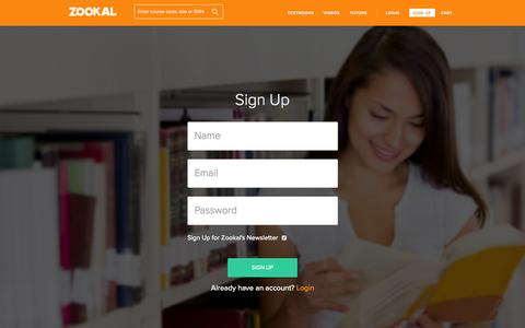 Screenshot of Signup Page zookal.com - Create New Customer Account | Zookal.com - captured Nov. 14, 2015