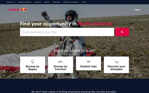 Red Bull Jobs - Careers, employment and internships  | Red Bull Jobs US
