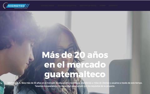 Screenshot of Home Page microtec-guatemala.com - Inicio » Microtec, S. A. - captured Oct. 18, 2017
