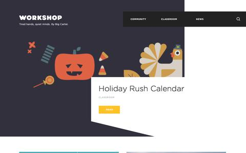 Screenshot of Blog bigcartel.com - Big Cartel Workshop - captured Oct. 10, 2017