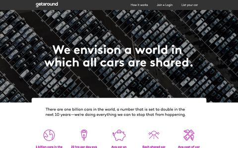 Screenshot of About Page getaround.com - About Getaround | Driving the Future of Carsharing - captured May 29, 2019