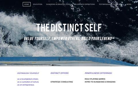 Screenshot of Home Page thedistinctself.com - The Distinct Self / Se Distinguer - captured Sept. 20, 2018