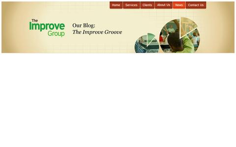 Screenshot of Press Page theimprovegroup.com - The Improve Group | Research, Evaluation, Planning, Coaching - captured Oct. 7, 2014