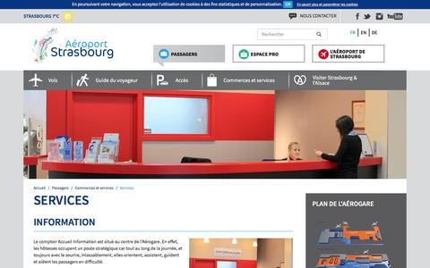 Screenshot of Services Page strasbourg.aeroport.fr - Services - Aéroport de Strasbourg - captured Feb. 5, 2016