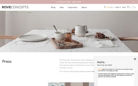 Screenshot of Press Page roveconcepts.com - Press   Rove Concepts - captured Sept. 7, 2017