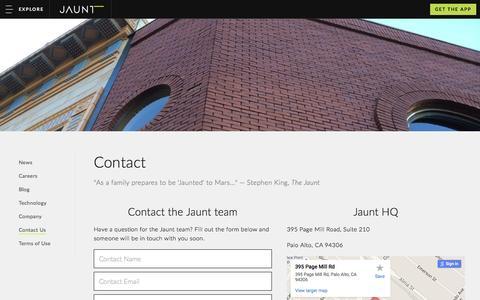 Contact Jaunt