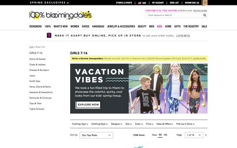Big Girls' Clothes, Dresses & More (Size 7-16) - Bloomingdale's