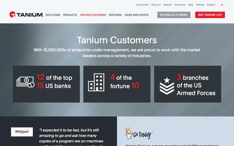 Tanium Customers | Tanium