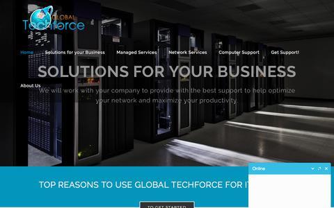 Screenshot of Home Page global-techforce.com - Global Techforce - captured July 20, 2018