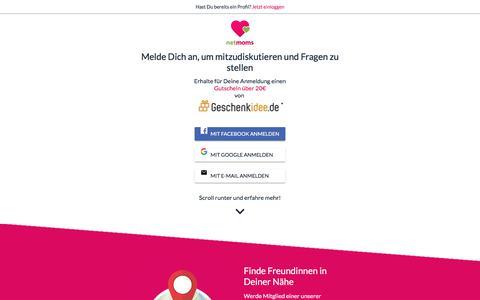 Screenshot of Signup Page netmoms.de - NetMoms - Baby, Kind & Schwangerschaft - Das Portal für Mütter - NetMoms.de° - captured Sept. 21, 2018