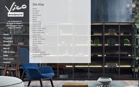 Screenshot of Site Map Page vicoarredamenti.it - Site Map | Vico Arredamenti Ancona - captured Sept. 30, 2014