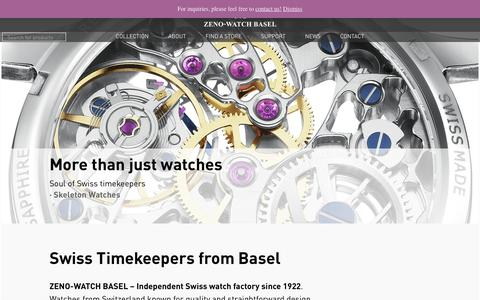 Screenshot of Home Page zeno-watch.ch - ZENO-WATCH BASEL   Independent Swiss Watch Manufacturing - captured Oct. 24, 2017