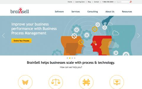 Screenshot of Home Page brainsell.net - CRM / ERP Software Consultants | BrainSell - captured Nov. 3, 2015