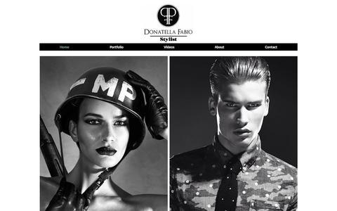 Screenshot of Home Page donatellafabio.com - Donatella Fabio Fashion Stylist Portfolio - captured Sept. 30, 2014