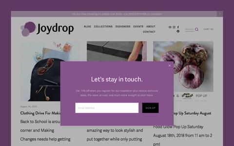 Screenshot of Blog joydrop.ca - Blog — Joydrop | Calgary Jewellery - captured Sept. 20, 2018