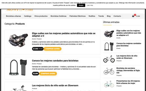 Screenshot of Products Page slowroom.es - Products archivos - - captured Oct. 20, 2018