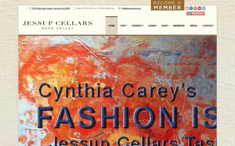 Screenshot of Home Page jessupcellars.com - JessupCellars | Jessup Cellars | Napa Valley | Wine | Art | Culture - captured Sept. 30, 2014