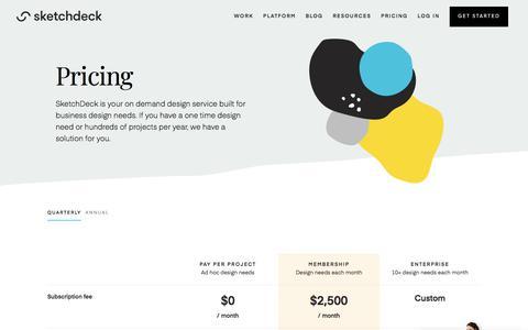 Screenshot of Pricing Page sketchdeck.com - SketchDeck Pricing - captured Aug. 31, 2019