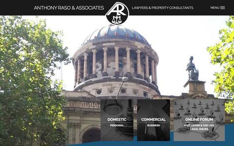 Screenshot of Home Page alr.com.au - Welcome to Anthony Raso & Associates - Anthony Raso & Associates - captured Feb. 6, 2016